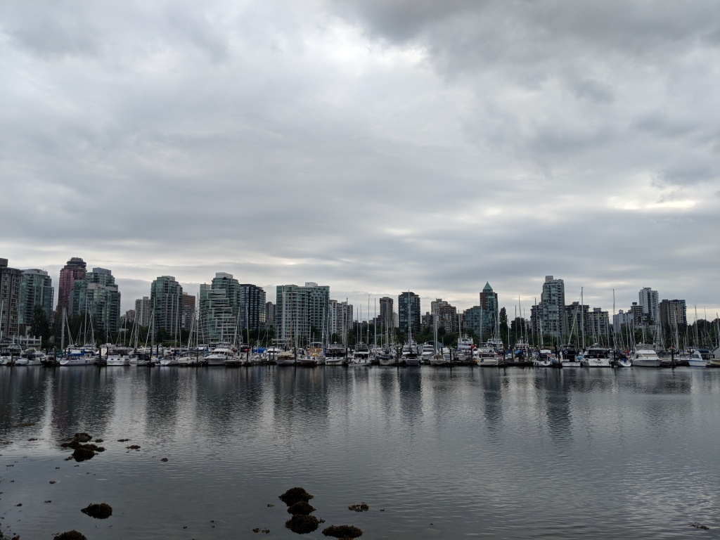 A view of the Coal Harbour Marina in downtown Vancouver, B.C.